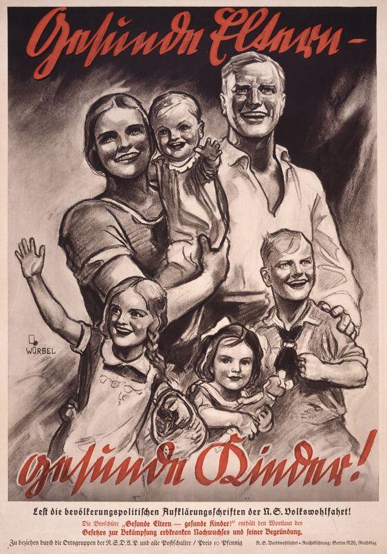 3. Reich ca. 1934 - Thema: Rasse, Familie, Familien-Planung