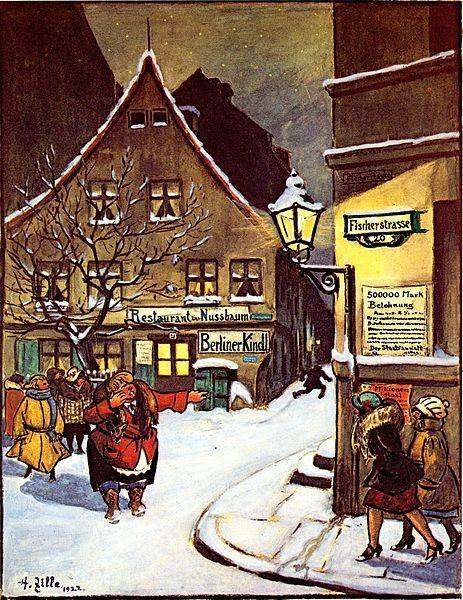 1922:Heinrich Zille Fischerstrasse und Restaurant