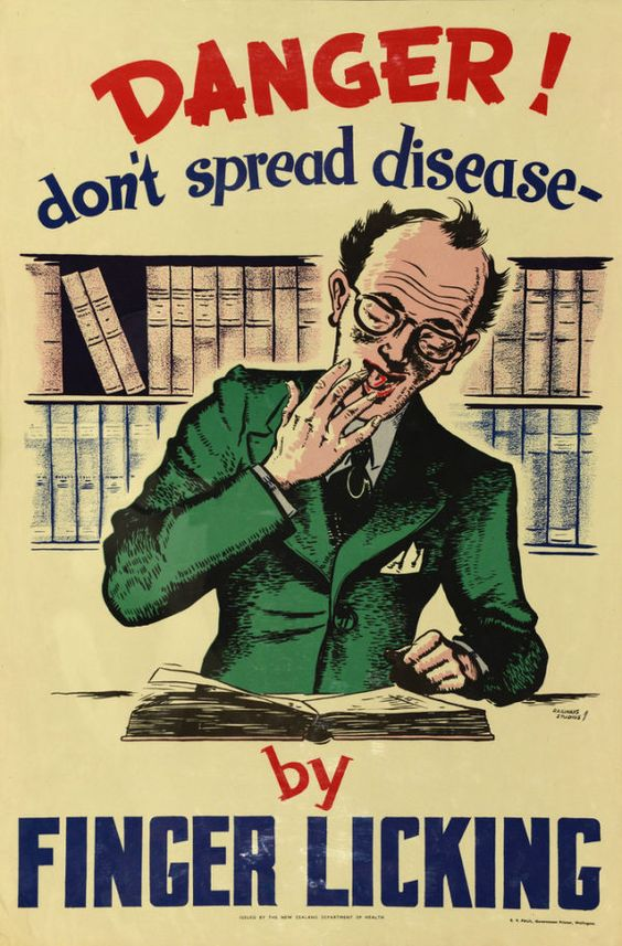 Health Poster Danger don't spread disease E V Paul canvas painting print size 20x30 inch (50x75 cm)