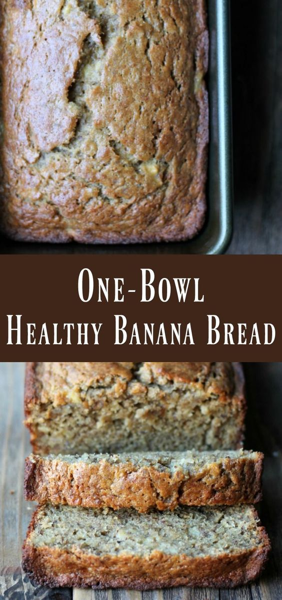 One-bowl Healthy Banana Bread