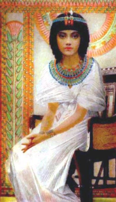 Tutankhamun's queen, Ankhesenamun as painted by Winifrred Brunton at the turn of the last century.