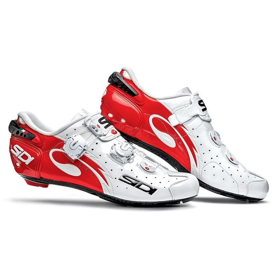 Zapatillas Sidi Wire Carbon Carretera blanco rojo barnizado 313.50€ en #deporvillage #sidi #cyclingshoes