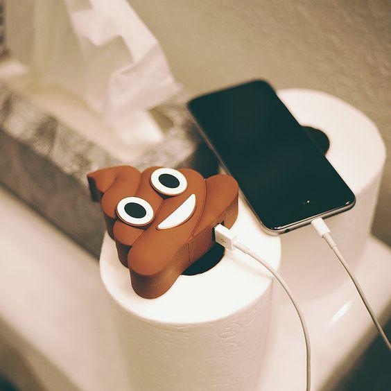 Poop Emoji Portable Charger