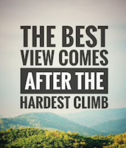 the best view comes after the hardest climb -35 motivational quotes to SLAY your goals - OurMindfulLife.com