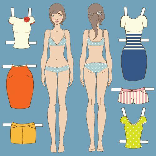 Бумажные куклы с одеждой для детей