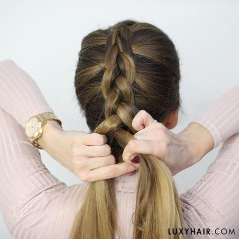 How To Dutch Braid: Step By Step Tutorial | Luxy Hair Blog