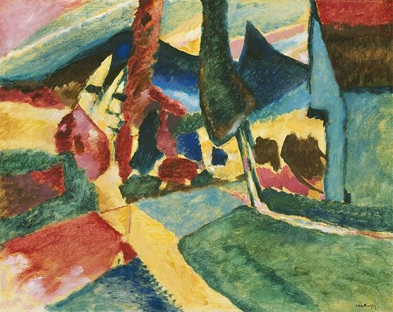 Wassily Kandinsky. Landscape with Two Poplars, 1912