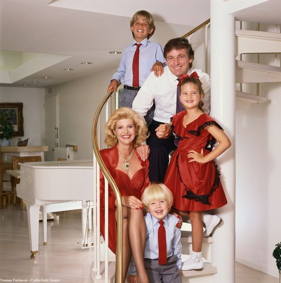The Trump Family, circa 1986.