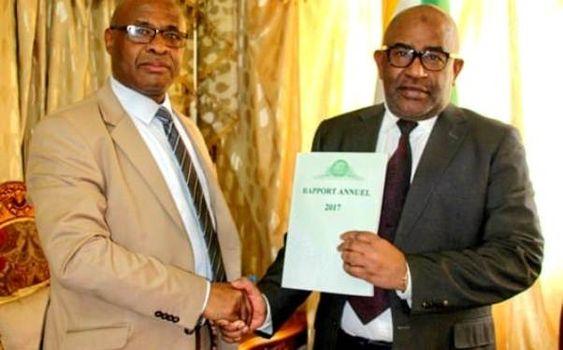 Le Président Azali a reçu le Gouverneur de la Banque Centrale pour le rapport annuel de la banque