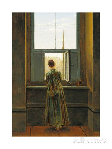 Woman at a Window, 1822 Giclee Print by Caspar David Friedrich at AllPosters.com