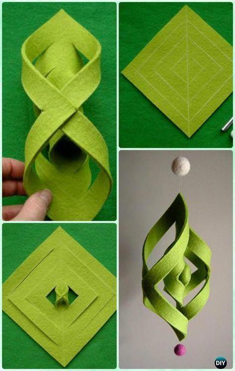 DIY Felt Ogee Ornament Instruction - DIY Christmas #Ornament Craft Ideas For Kids #diychristmas