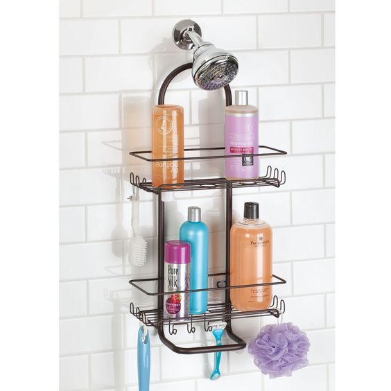 Powder coated over the shower head caddy