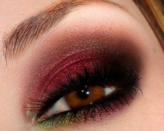 Capodanno 2014 idee smokey eyes sfumature del rosso