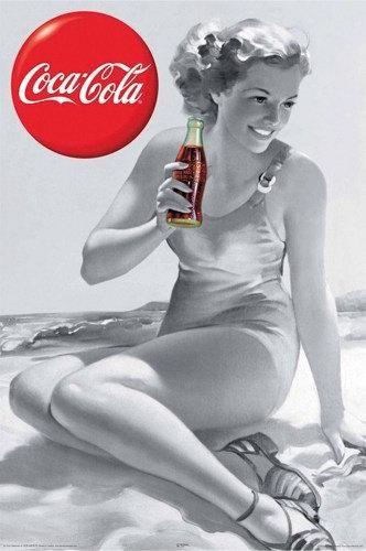 ビーチでコカ・コーラ