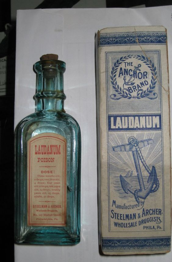 Laudanum bottle from the late 1800s/early 1900s.