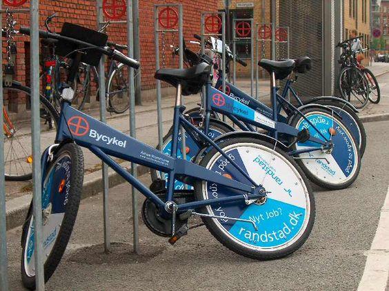 Aarhus- such old heacy bikes but free public transport