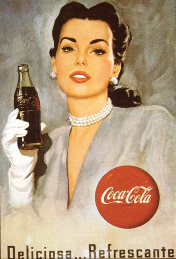 ハリウッド女優風のコカ・コーラ