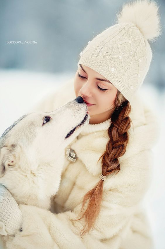 Зима зимняя фотосессия девочка собака winter photo dog