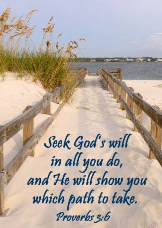 Proverbs 3:6 God's will be done!