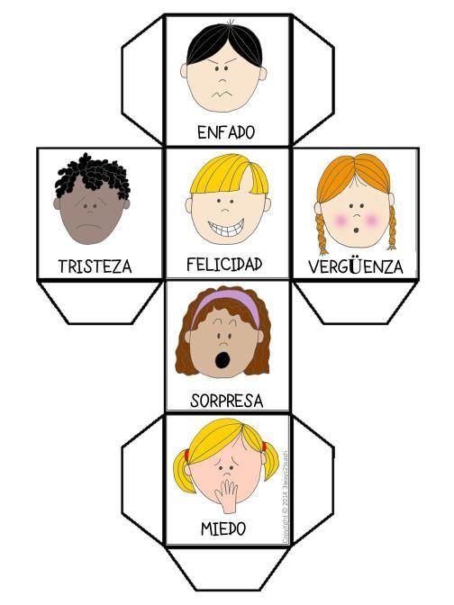Descárgate GRATIS un dado para jugar a las Emociones TODOS NUESTROS MATERIALES SON DIGITALES Y SE ENVÍANAL CORREO ELECTRÓNICO