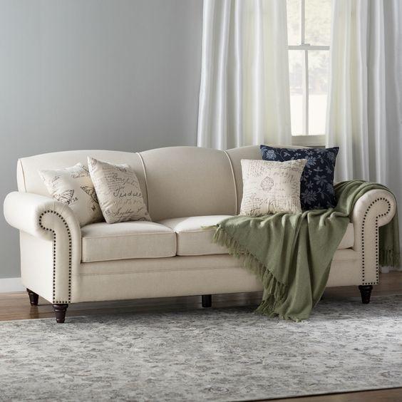 Sofa da thật tphcm đẹp dành cho tín đồ màu trắng