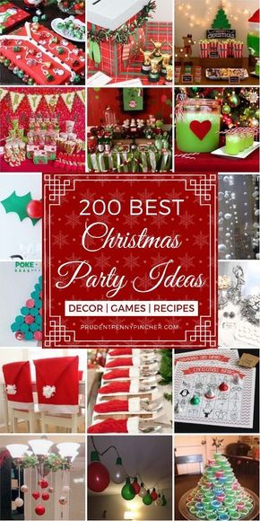 200 Best Christmas Party Ideas #Christmas #ChristmasRecipes #ChristmasDecor #ChristmasParty #ChristmasGames