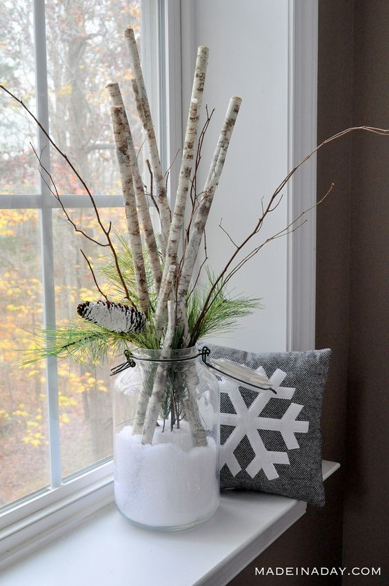 Save the fun of a snow day for the whole season with this beautiful DIY arrangement.