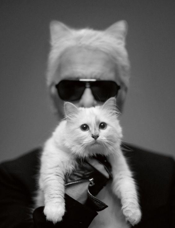 Autoportrait : Karl Lagerfeld.