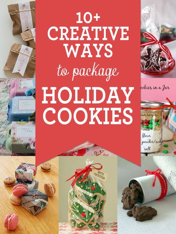 10+ Creative Ways to Package Cookies for the Holidays #diy #cookies