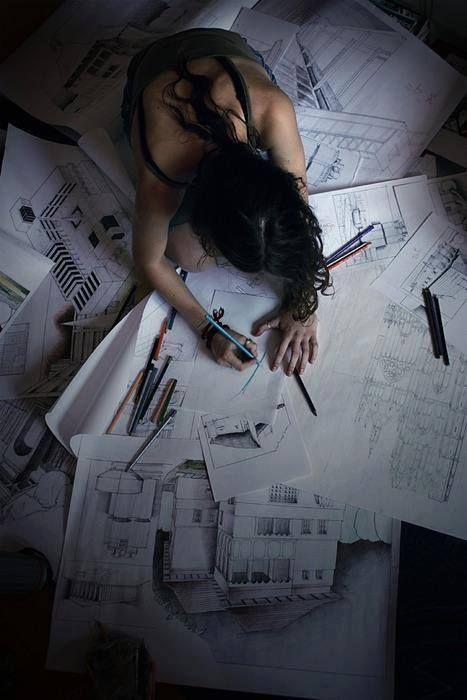 """¡Un pensamiento que transmite arquitectura! Frases de Arquitectura """"La arquitectura es la suma incompleta de miles de formas de pensamientos"""" Richard Scarpetta"""