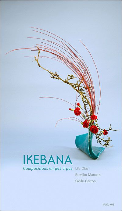 Ikebana  The Japanese art of arranging flowers in a formal balanced composition. Early 20th Century- living flowers