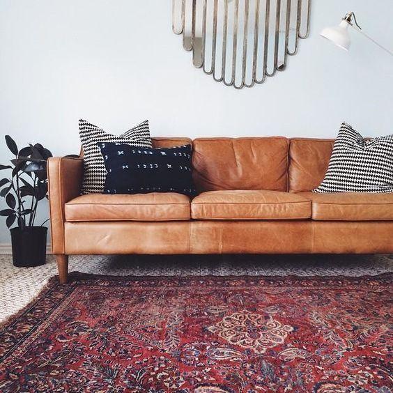 Mua sofa da tphcm màu camel cho phòng khách sang đông