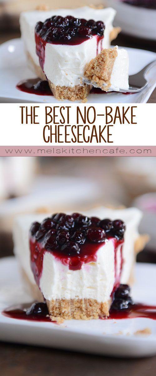 The Best No-Bake Cheesecake #cake #cheesecake #dessert #nobake #vegetarian