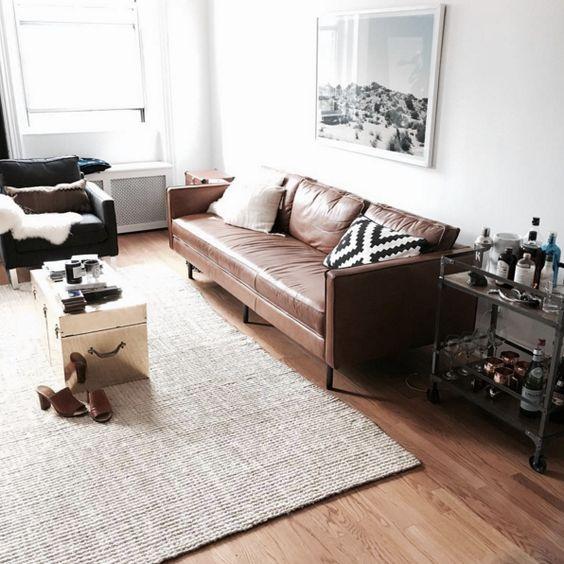 Mua sofa da thật ở đâu lên ý tưởng thiết kế cho phòng khách nhỏ