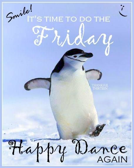 Happy Dance Friday Penguin