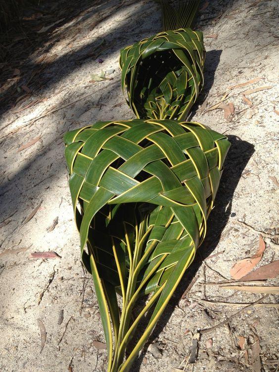 Bolsa artesanal folha coqueiro
