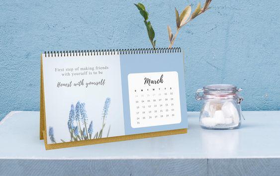 Free self-love printable calendar 2019 - OurMindfulLife.com