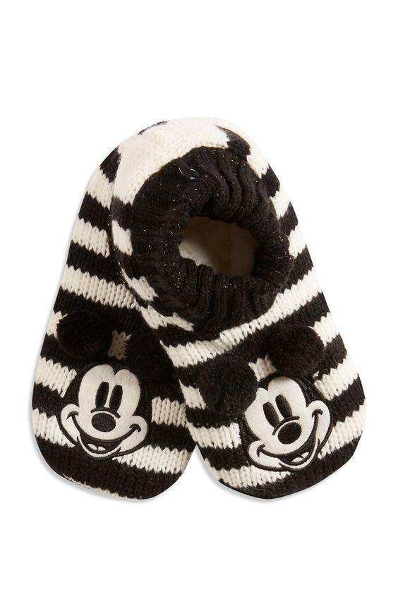 Gebreide Minnie Mouse-pantoffels