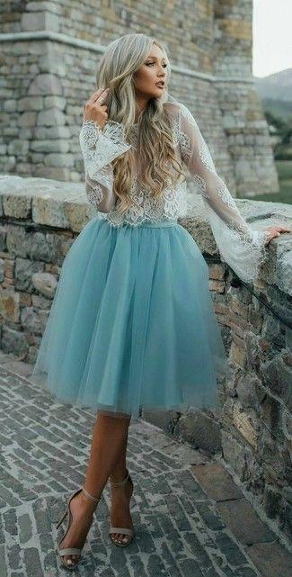 Las faldas de tul tienen una esencia romántica.