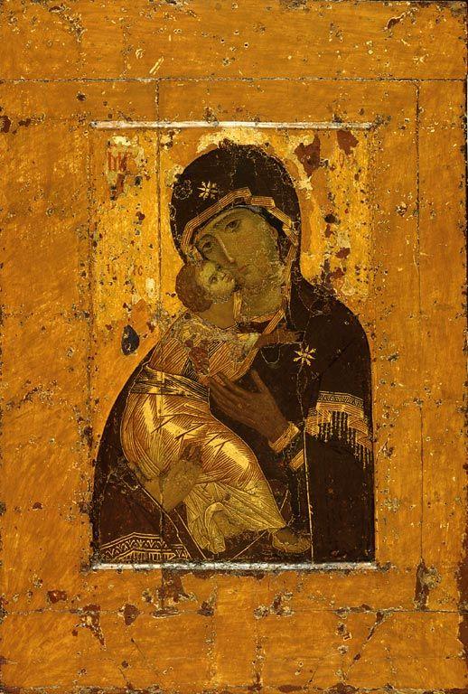 Virgen de Vladimir, siglo IX.