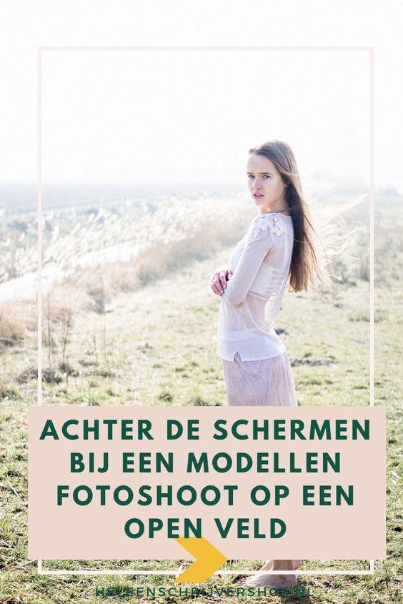 Modellen fotoshoot open veld