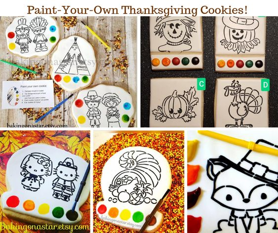 Paint Your Own Thanksgiving Cookies