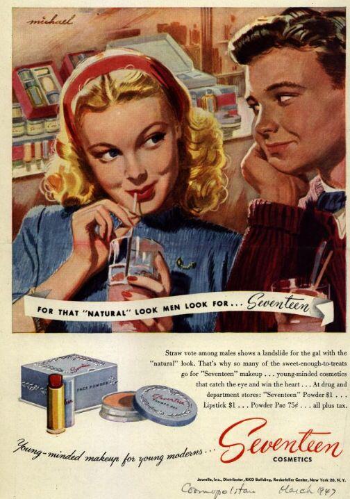 Vintage cosmetics ad