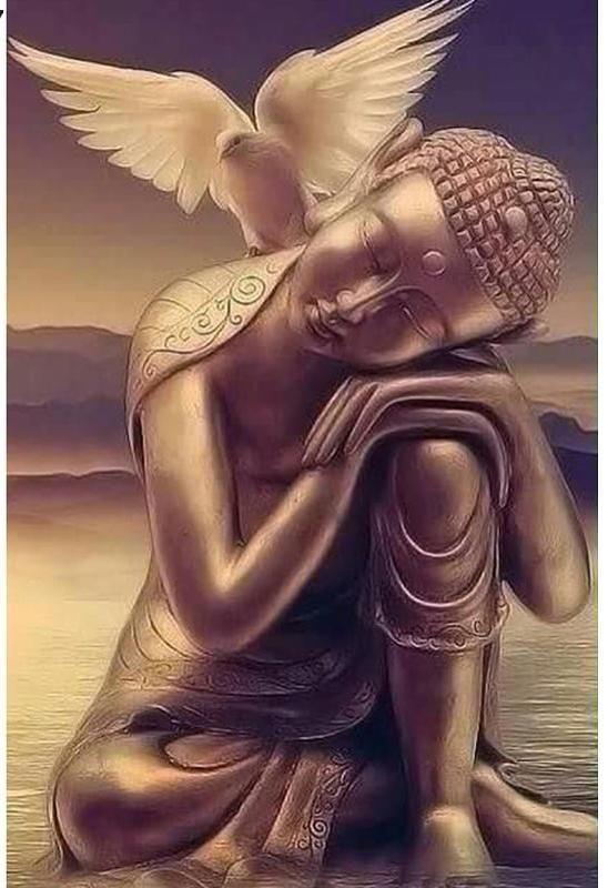 Buddha and Dove 5D Round Diamond Painting