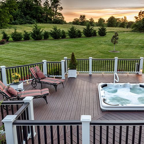 Order a sample of Trex® Transcend Lava Rock composite decking to find out if it's the perfect match for your home.