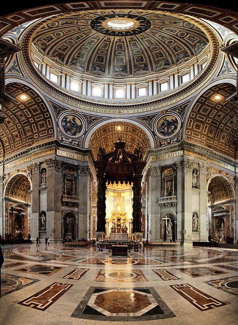 Interior de la Basílica de SanPedro