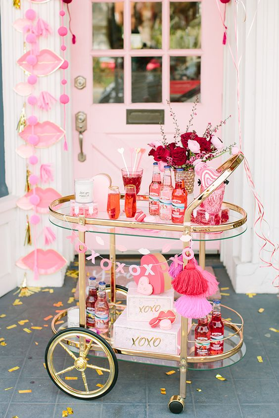 Party Planning: A Red & Pink Lip-Themed Galentine's Get Together