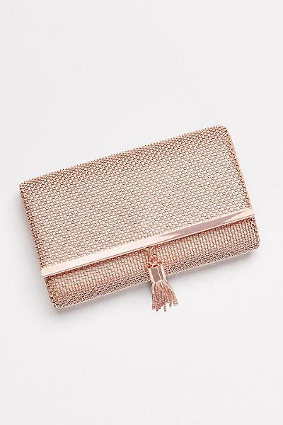 Tassled Mesh Clutch RL50130