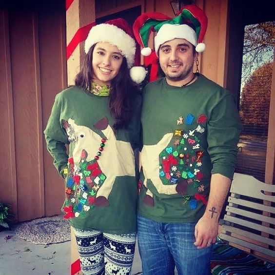 33 Hideous and Fun Christmas Matching Ugly Sweater Ideas For