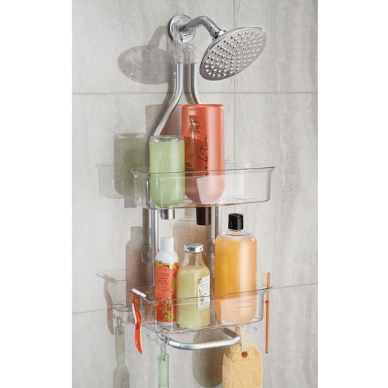 Over shower head caddy